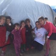 Bezoek aan vluchteling Newroz vluchtelingkamp in Rojava