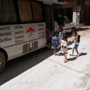 Schoolbus Miss Muna's school Kobane